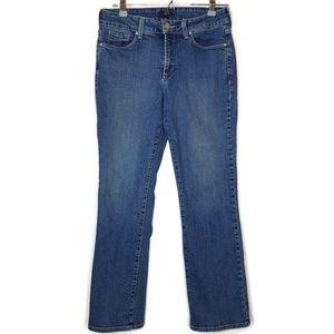 NYDJ Stretch Fit Straight Leg Jeans Medium Wash